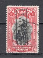 BELGISCH CONGO: COB TX 62C GESTEMPELD. - Belgisch-Kongo