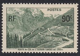 FRANCE Francia Frankreich - 1937 - Yvert 358 Nuovo Con Traccia Di Linguella, Strada Del Col De L'Iseran - Neufs