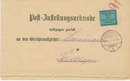 DEUTSCHES REICH - Frei Lt. Avers Nr. 8, Grüner Aufkleber - Averszettel Schaumburg-Lippe, Orts-Zustellurkunde Stadthagen - Oficial