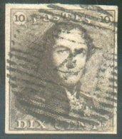 N°1 - Epaulette 10 Centimes, Magnifiquement Margé, Obl. P.4 ANVERS Idéalement Apposée.  Regard Dégagé. Pièce De Luxe.  1 - 1849 Epaulettes