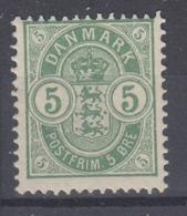 +D3355. Denmark 1902. AFA 34C. Michel 34ZB. MH(*) - Nuovi