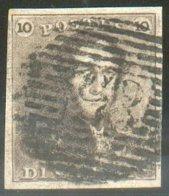 N°1 - Epaulette 10 Centimes Brun, Belles Marges Et Obl. P.85 NAMUR Bien Nette..  14551 - 1849 Epaulettes