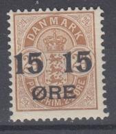 +D3356. Denmark 1904. AFA 41. Michel 41B. MH(*) - Nuovi