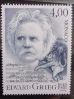 MONACO 1993 Y&T N° 1908. ** - 150e ANNIV. NAISSANCE COMPOSITEUR NORVEGIEN EDVARD GRIEG - Monaco