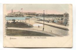 Havana / Habana - El Malecon, The Punta Promenade - Cuba Postcard Sent 1904 From USA To England - Cuba