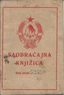 Document DO000164 - Yugoslavia Croatia Baranja Baranya Zmajevac Vehicle Registration Card 1946 - Documents Historiques
