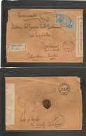 ROMANIA. 1916 (24 June) Torqu Neamtu - Sweden, Nornkoping (30 June) Registered Censored Fkd Env Ovptd. Nembol Country De - Rumania