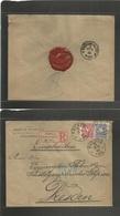 GERMANY. 1888 (19 June) Aachen - Dresden. Registered Fkd Env, Cds + R-label. Fine. - Sin Clasificación