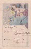 Liberty  - La Fanciulla In Azzurro-rosa  -  Edit.  M. M. Vienne  -  Nr.  127 - Illustratori & Fotografie