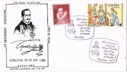 33845. Carta Exposicion BARCELONA 1986. Lope De VEGA - 1931-Hoy: 2ª República - ... Juan Carlos I