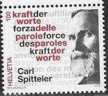 SWITZERLAND, 2019, MNH, POETS, CARL SPITTELER, NOBEL PRIZE WINNERS, THE POWER OF WORDS,1v - Writers