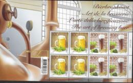 SWITZERLAND, 2019, MNH, DRINKS, BEER, ART OF BREWING BEER, SHEETLET OF 8v - Biere