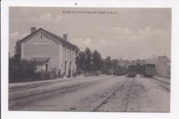 CP 37 Arrivée D'un Train En Gare De LIGUEIL - Francia