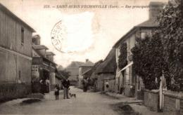 SAINT AUBIN  DCROSVILLE RUE PRINCIPALE - Saint-Aubin-d'Ecrosville
