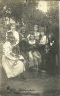 ( ESTONIE  )( TYPES ESTHONIENS  )( FOLKLORE )( COSTUME NATIONAL)( CARTE PHOTO ) 1926 - Estonie
