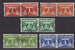 Niederlande 146/150 B Waag. Paare Gest. - Period 1891-1948 (Wilhelmina)