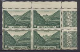 Luxemburg 283 Viererblock Mit ZW-Ansatz ** - Nuevos