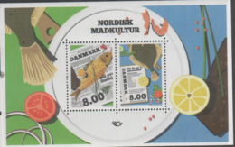 DENMARK, 2016, MNH, NORDEN, NORDEN CUISINE, FISH, S/SHEET - Fishes
