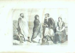 ALGERIE-BERBERE-NEGRESSE-JUIFS D'ALGER-PL03N-1859 - Prints & Engravings