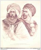 ALGERIE-MARABOUTS-MEYER HENRI-1879-25x25cm-3568 - Prints & Engravings