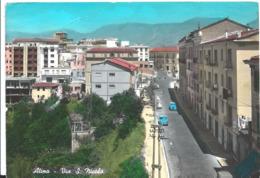Cartolina Di Atina Via S. Nicola - Frosinone