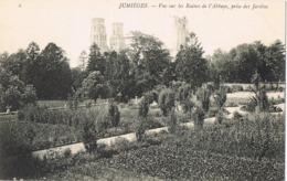 33853. Postal JUMIEGES (seine Maritime). Ruines De L'abbaye, Prise Des Jardins - Jumieges