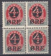 +Denmark 1904. Bloc Of 4. AFA 40. Michel 40Z. MNH(**)/ MH(*) - Nuovi