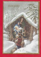 CARTOLINA VG ITALIA - BUON NATALE - Sacra Famiglia - Adorazione Pastori  ZANDRINO - AR 5846 01 - 10 X 15 - 1967 FELTRE - Altri