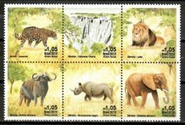 Brazil 2010 Brasil /  Mammals Lion Elephant Rhino MNH Mamíferos Säugetiere / Cu12009  36-17 - Sellos