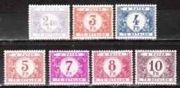 TX59/66*  Chiffre Coloré Sur Fond Blanc - Bonnes Valeurs - MH* - LOOK!!!! - Taxes