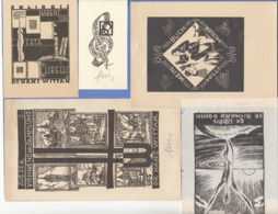 Brief Mit 10 EXLIBRIS Teilweise Mit Autogr., Brief Gel.1932, Exlibris Um 1920 ... - Exlibris