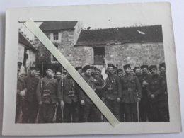 1914 1915 Zouaves Tracy Le Val Oise Soissonnaise 4eme Régiment Fanion Tranchée Poilu 1914 1918 WW1 14/18 1WK 4PH - Guerra, Militari