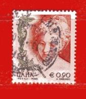 Italia ° - Anno -2004 - LA DONNA NELL'ARTE. Euro 0,90.  Unif. 2810.  Usato - 2001-10: Usados
