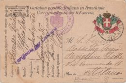 1917 POSTA MILITARE/ 117 C2 (19.10)  Su Cartolina Franchigia - 1900-44 Vittorio Emanuele III