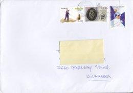 Spain BARCELONA 2018 Cover Letra BRØNDBY STRAND Denmark Sabadell F.C., Tuta O Tanga (Chito) Stamps - 1931-Heute: 2. Rep. - ... Juan Carlos I