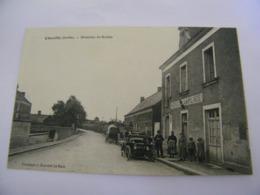 C.P.A.- Chevillé (72) -Direction De Brulon - Hôtel De La Place - Automobile - 1910 - SUP (CQ 22) - Sonstige Gemeinden