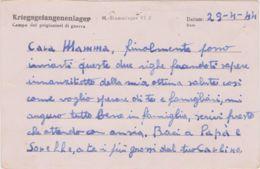 1944 STALAG VI J Su Cartolina Franchigia Da Prigioniero Guerra Italiano In Germania, Data Manoscritta (29.3) - 1900-44 Victor Emmanuel III.