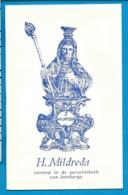 Holycard    St.   Mildreda    O.L.V.  V.   Izenberge   Leisele - Andachtsbilder