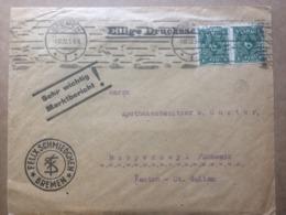 GERMANY 1922 Cover Bremen To Rapperswyl Switzerland - `Felix Schmiedchen` Cachet - Germany