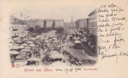 Wien * Naschmarkt, Strassenbahn, Leute * Österreich * AK632 - Wien Mitte