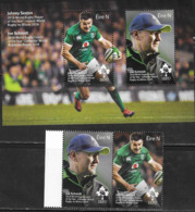 IRELAND, 2019, MNH,  RUGBY, JOHNY SEXTON, 2018 WORLD RUGBY PLAYER OF YEAR, JOE SCHMIDT, RUGBY COACH OF YEAR,2v+SLT - Rugby