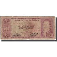 Billet, Bolivie, 20 Pesos Bolivianos, 1962-07-13, KM:161a, B - Bolivie