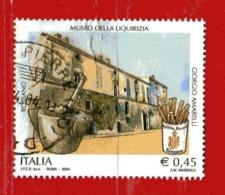 Italia ° - Anno -2004 -  MUSEO Della LIQUIRIZIA .  Unif. 2787.  Usato - 2001-10: Usados