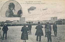 """Mécanicien Militaire A. SENART - Texte Et Signature AUTOGRAPHE / CP """" Un Vol De Leblanc Sur Blériot """" Pionnier Aviation - Autographes"""