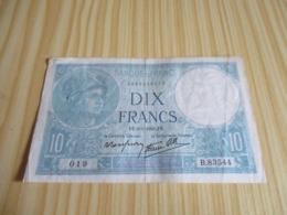 France.Billet 10 Francs Minerve 09/01/1941. - 10 F 1916-1942 ''Minerve''