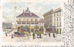 Wien * Café Stierböck, Lithographie * Österreich * AK635 - Vienna Center