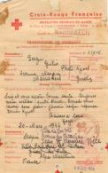 Croix Rouge Française Delegation Du Maroc  Cachet Croix Rouge - Poststempel (Briefe)
