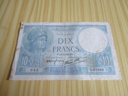 France.Billet 10 Francs Minerve 02/01/1941. - 1871-1952 Antichi Franchi Circolanti Nel XX Secolo