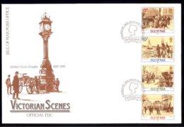 Isle Of Man Yv 320/23 Se Tenant,scènes Historiques De L'époque Victorienne 1987 . FDC - Man (Ile De)