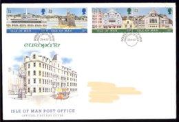 Isle Of Man Yv 330/33 Europa Architecture Moderne 1987 . FDC Adressed-circulé - Man (Ile De)